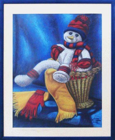 THE STOLEN SNOWMAN (PASTEL)